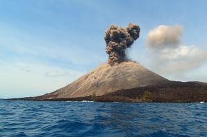 Ilustrasi Gunung Krakatau